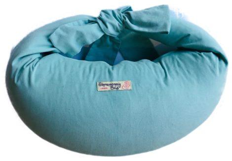 Breastfeeding Pillow in Aqua Corduroy