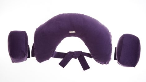 Twins Nursing Pillow - Aubergine
