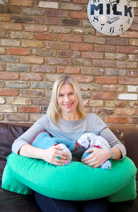 Breastfeeding Twins with Nursing Pillow