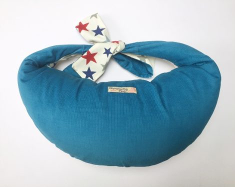 Baby Breastfeeding Pillow - Stars Teal Blue