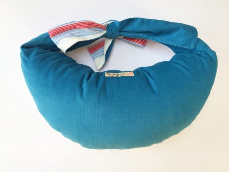 Unique Breastfeeding Cushion in Classic Blue Stripe