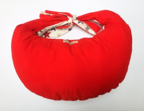 Best Breastfeeding Pillow for Large Babies in Stars Red.
