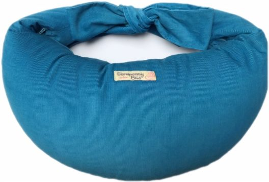 Corduroy Nursing Pillow - Teal Blue