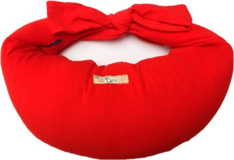 Corduroy Nursing Pillow - Vermillion Red