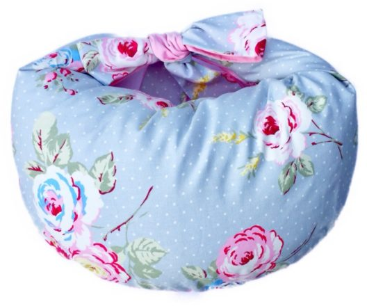 Grey Floral Breastfeeding Pillow