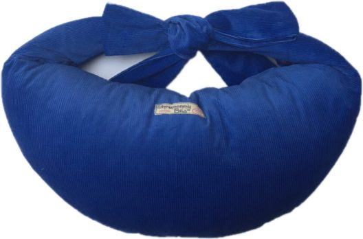 Breastfeeding Pillow in Sapphire Blue Corduroy