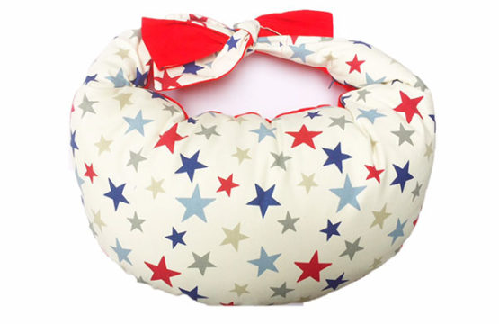 Red Stars Breastfeeding Cushion for large babies