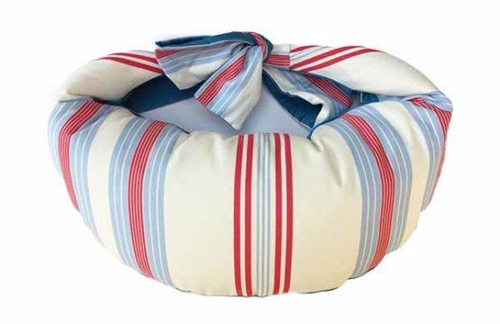 Classic Blue Stripe Nursing Pillow